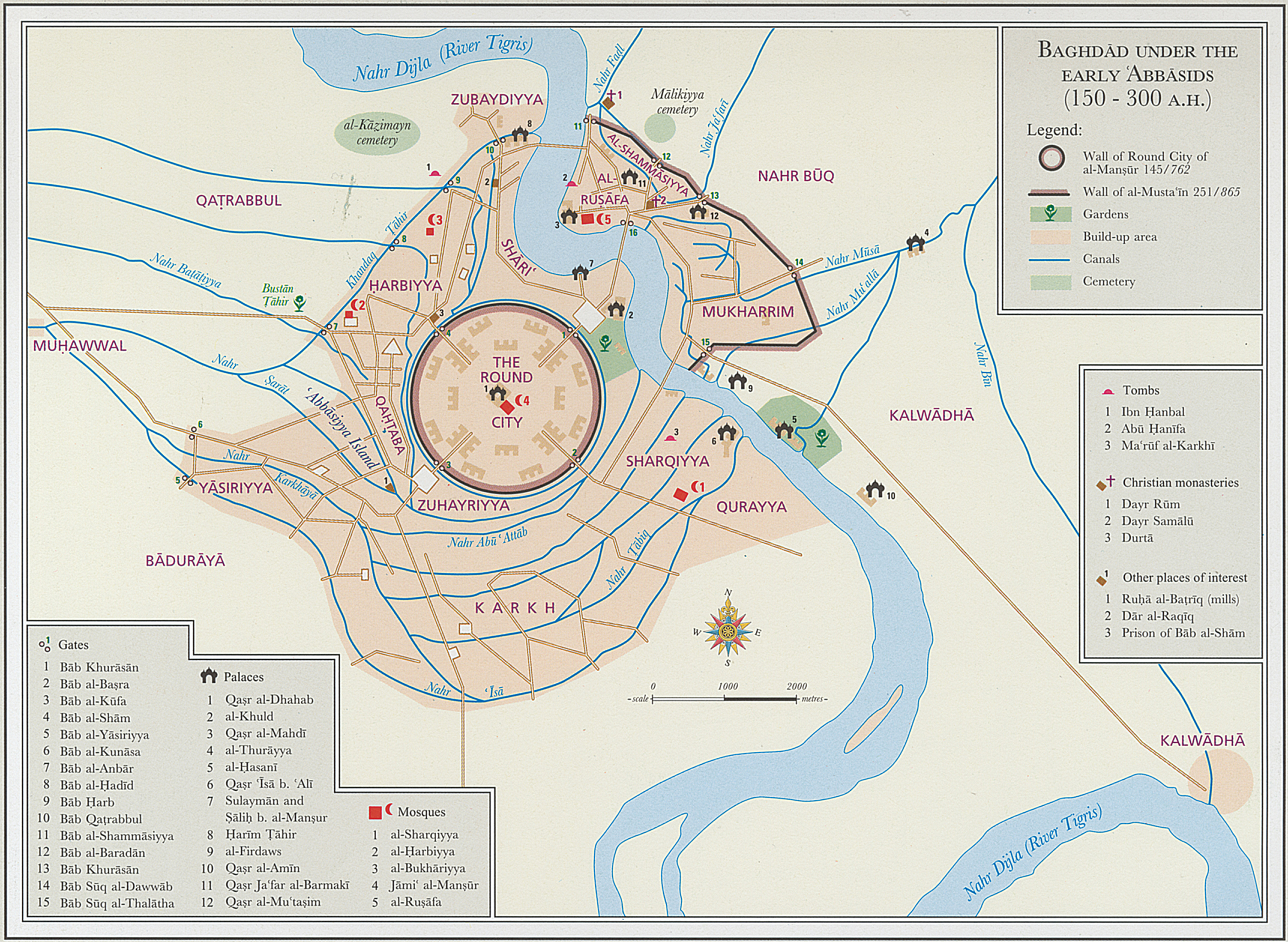 Map of Baghdad Under the ʿAbbasid Caliphate – دراسات مشرقية ...